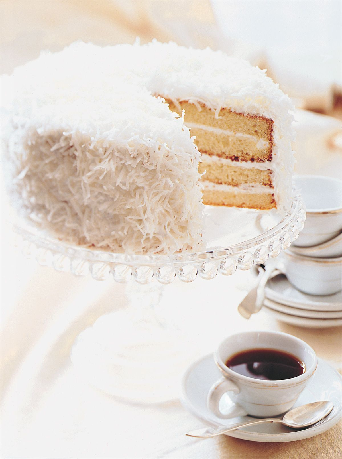 Southern Coconut Layer Cake With Divinity Icing
