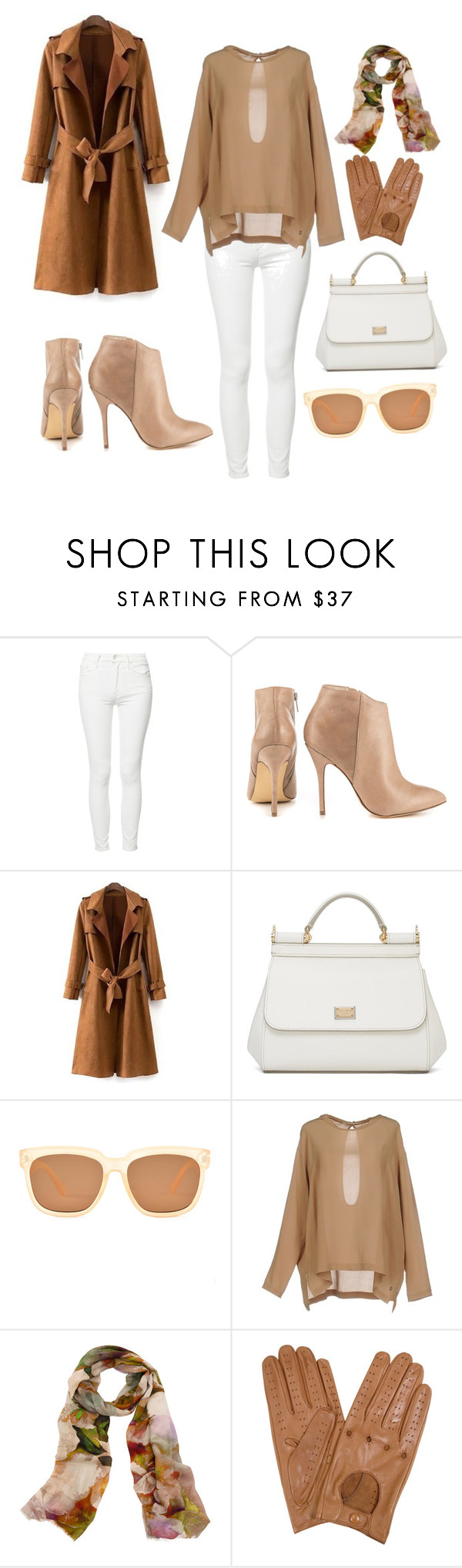 """""""Nudes"""" by u-babb ❤ liked on Polyvore featuring Mother, Steve Madden, Dolce&Gabbana, Ottod'Ame, Bindya and Forzieri"""