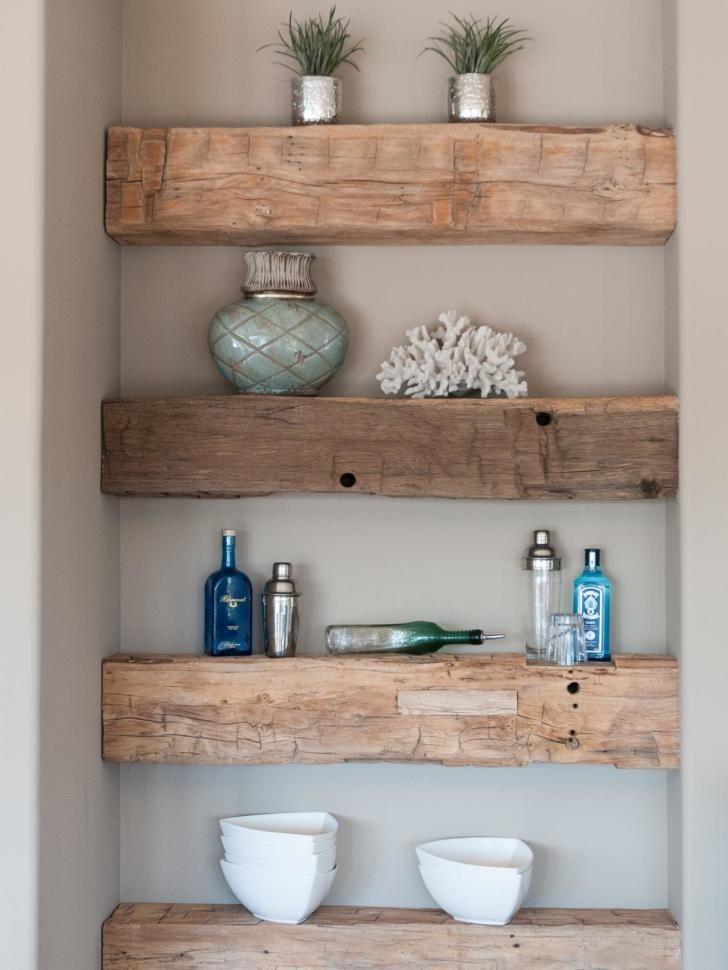 Barnwood Floating Shelf Under Cabinet Google Search Rustic Wood Shelving Home Decor Decor