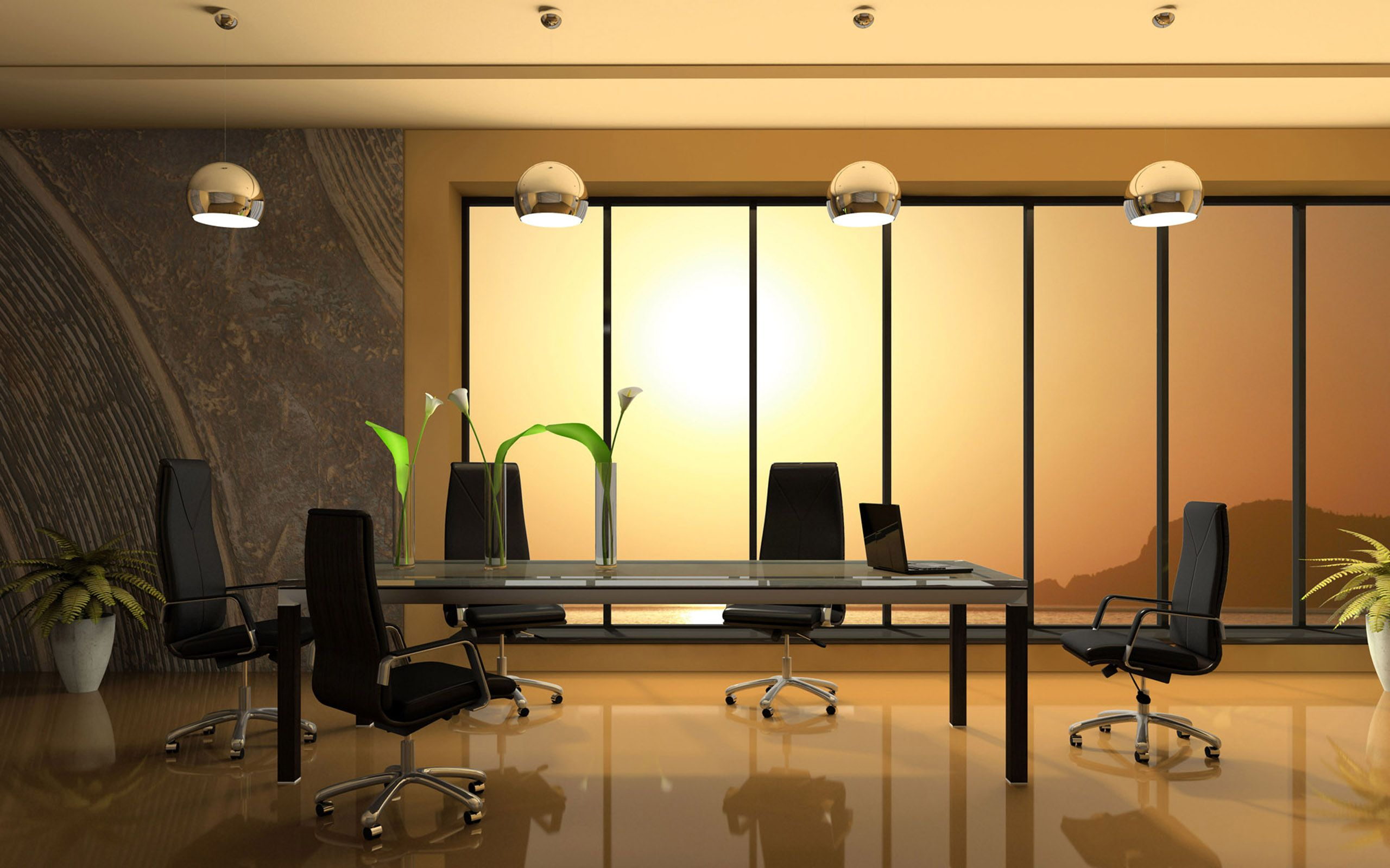 home office design ideas tuscan. Meeting Room With Rectangle Glass Conference Table And Five Black Swivel Chairs On Brown Glossy Floor: Modern For Office Furniture Home Design Ideas Tuscan O