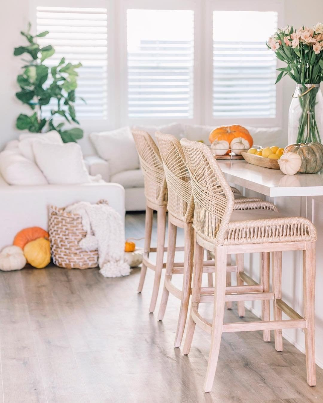 Wayfair On Instagram Pull Up A Chair Or A Barstool In This Case Lyndikennedy S Kiley Bar Stools Dining Room Design Counter Stools Wicker Counter Stools