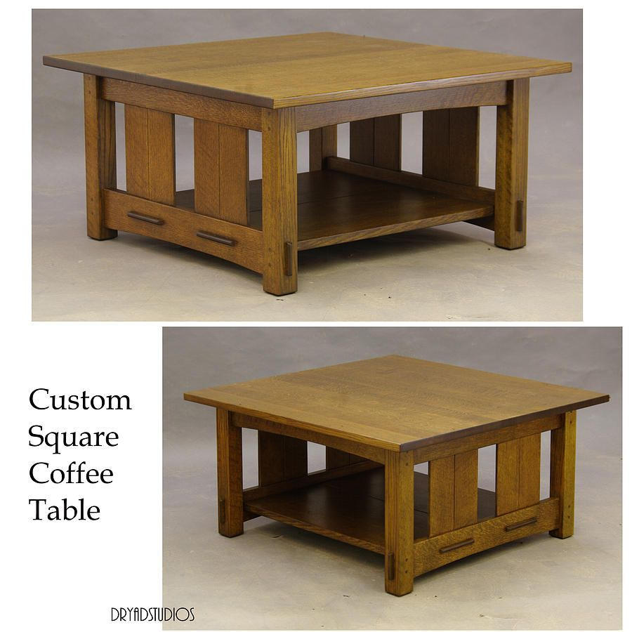 Craftsman Square Coffee Table By Dryad Studios Coffee Table Coffee Table Square Mission Style End Tables