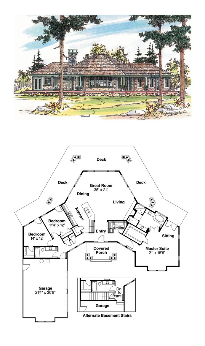 Octagon Style Cool House Plan Id Chp 20346 Total Living Area 2191 Sq Ft 3 Bedrooms And 2 Bathrooms Oct New House Plans Octagon House Dream House Plans