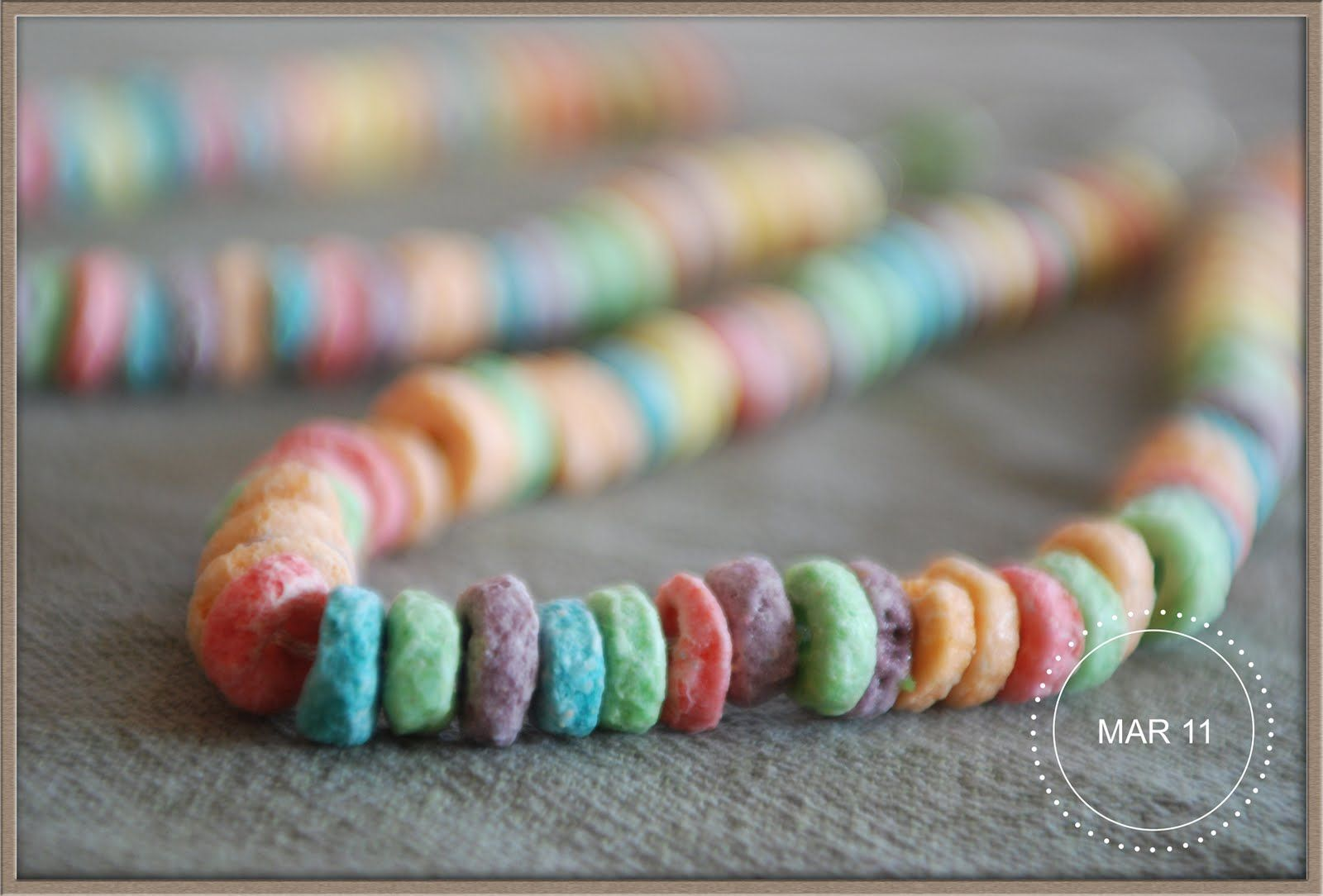 Fruit Loop Necklace To Teach Patterns