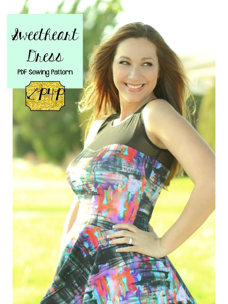 Sweetheart Dress With Images Sweetheart Dress Pattern Womens