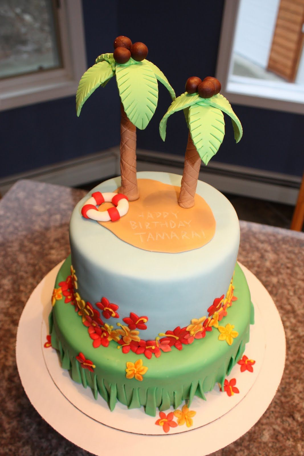 Hawaiian Luau Hawaii Decorated Cake