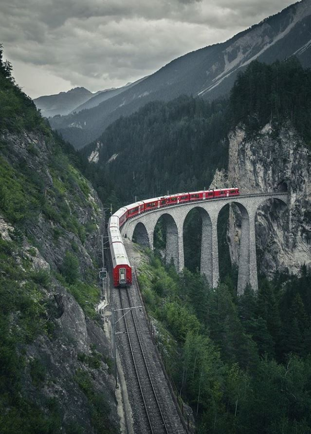 Landwasser Viaduct Switzerland Travel Travel