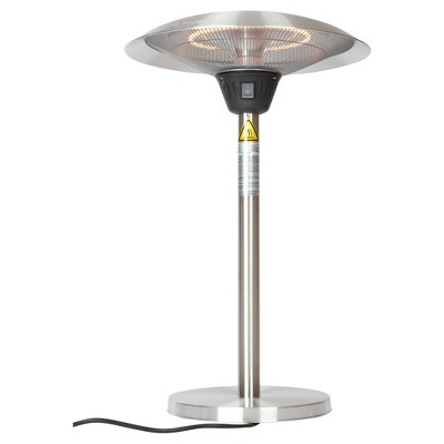 Cimarron Stainless Steel (Silver) Table Top Halogen Patio Heater   Stainless  Steel   Fire