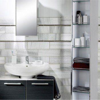 Armoire de toilette non lumineuse Urban, L 30 x H 170 x P 20 cm | Leroy Merlin