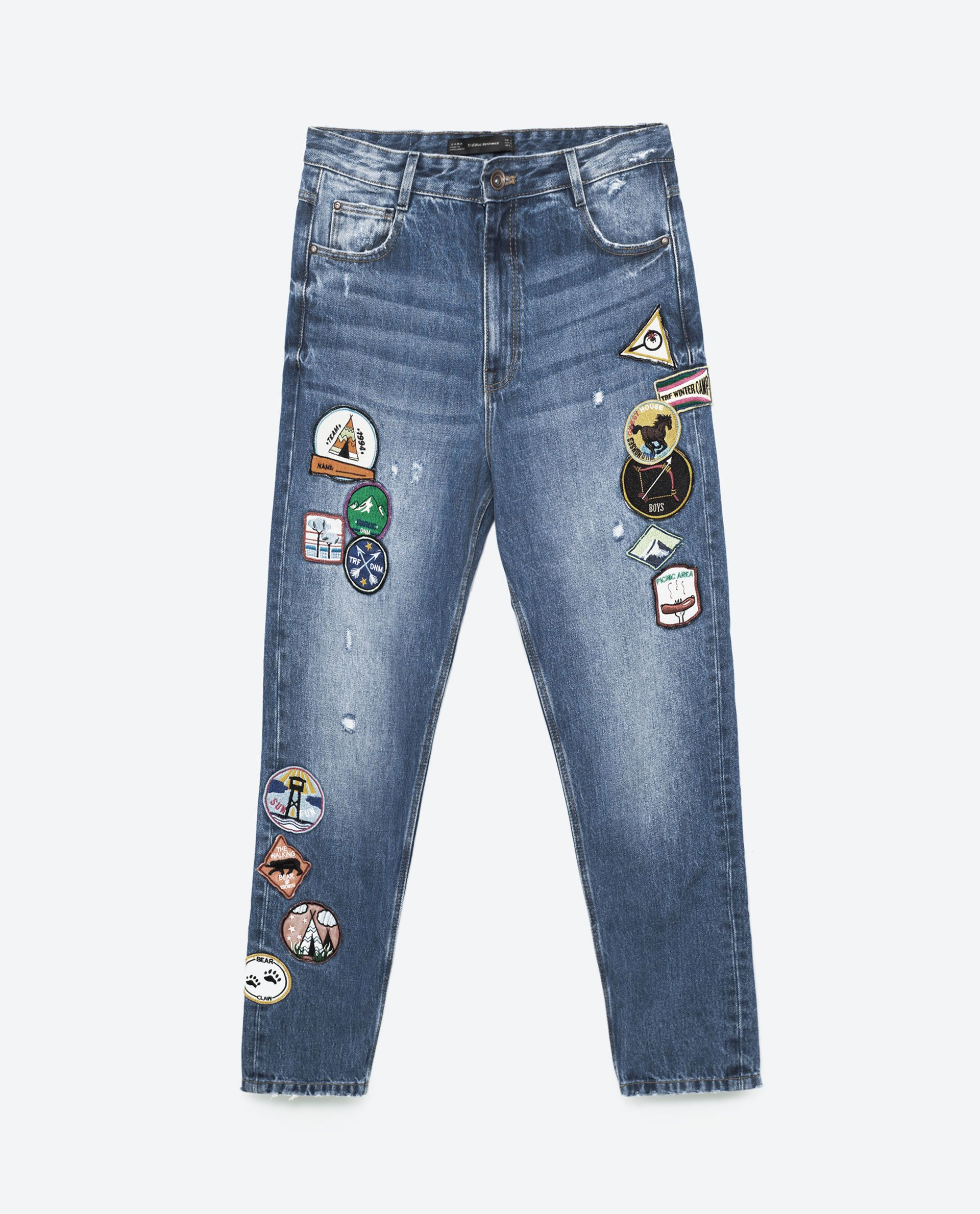 zara jeans patches