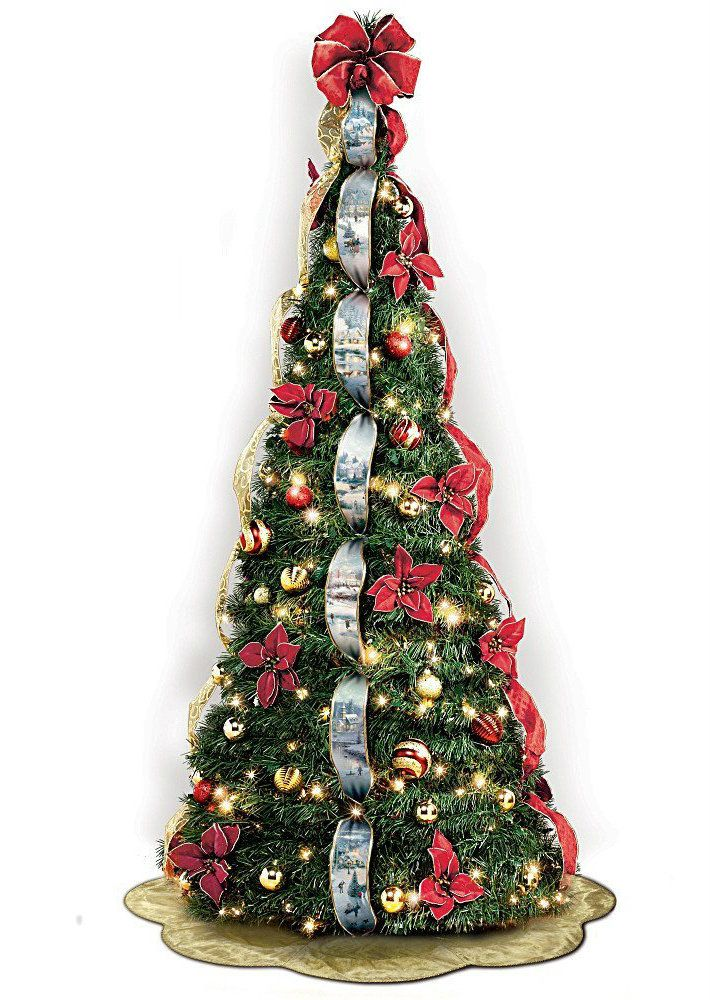 fully decorated christmas trees kinkade 7 ft pre lit pull up christmas tree wondrous winter more info - Pull Up Fully Decorated Christmas Tree
