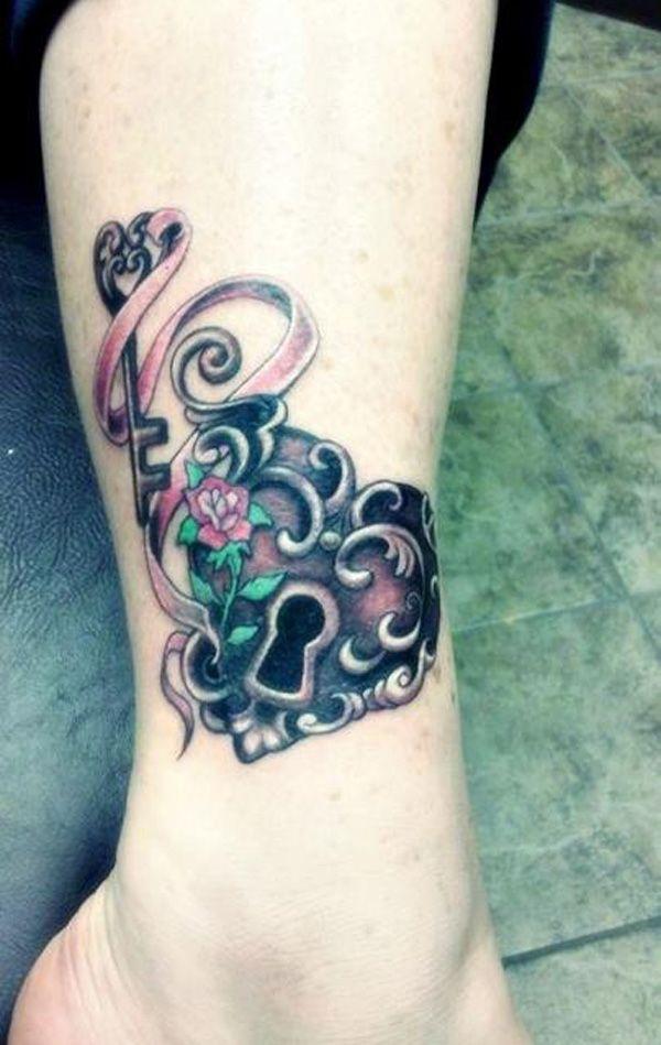 50 Inspiring Lock and Key Tattoos | Key tattoos, Tattoo and Tatting