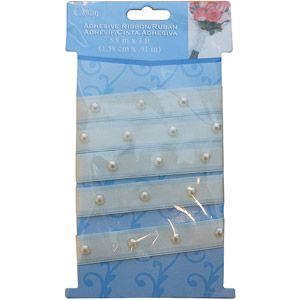 Offray Adhesive Pearl Bouquet Wrap