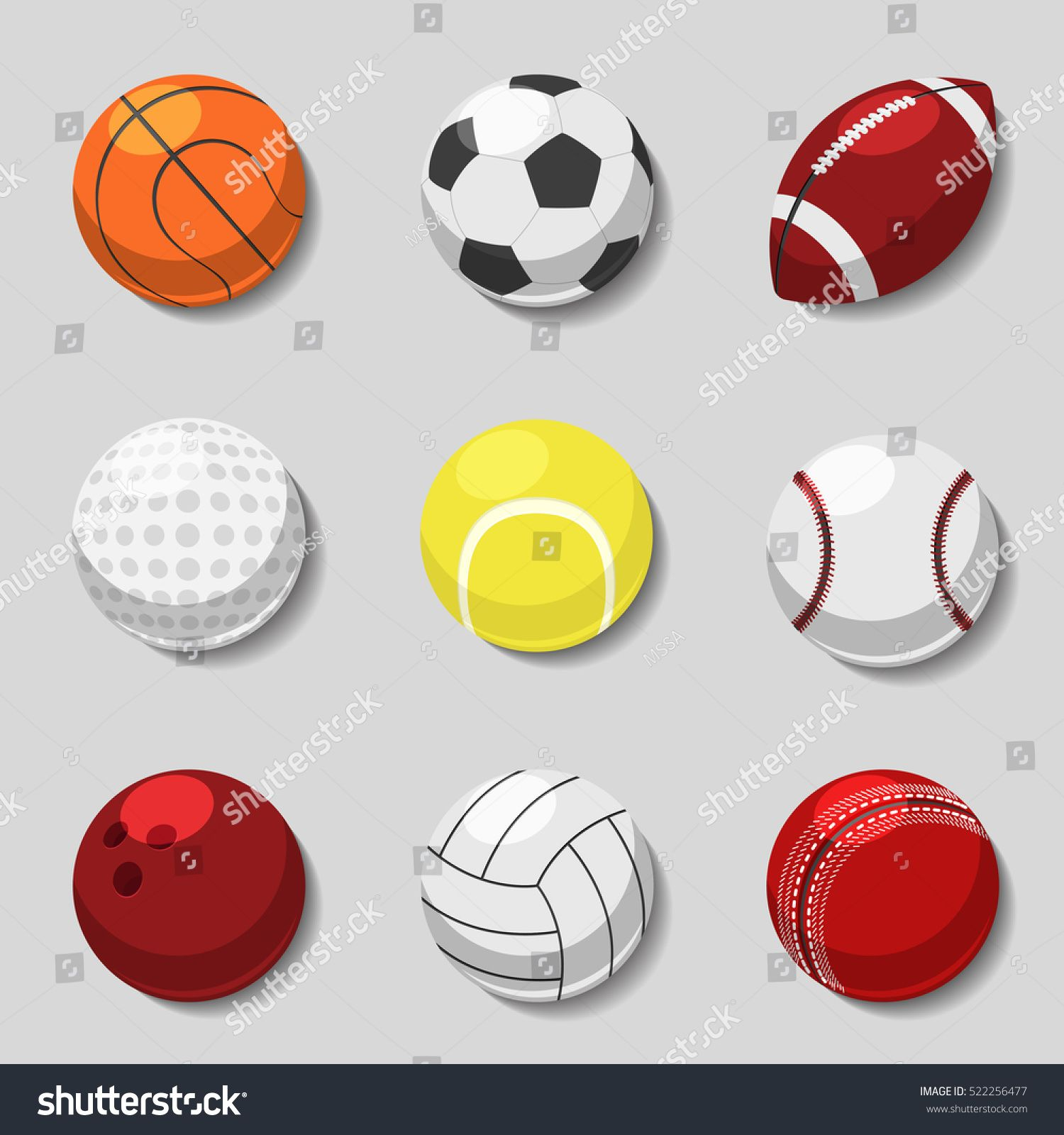 Sports Balls Vector Cartoon Ball Set For Soccer And Tennis Rugby Basketball And Football Balls Illustration Sponsored Sports Balls Football Ball Sports