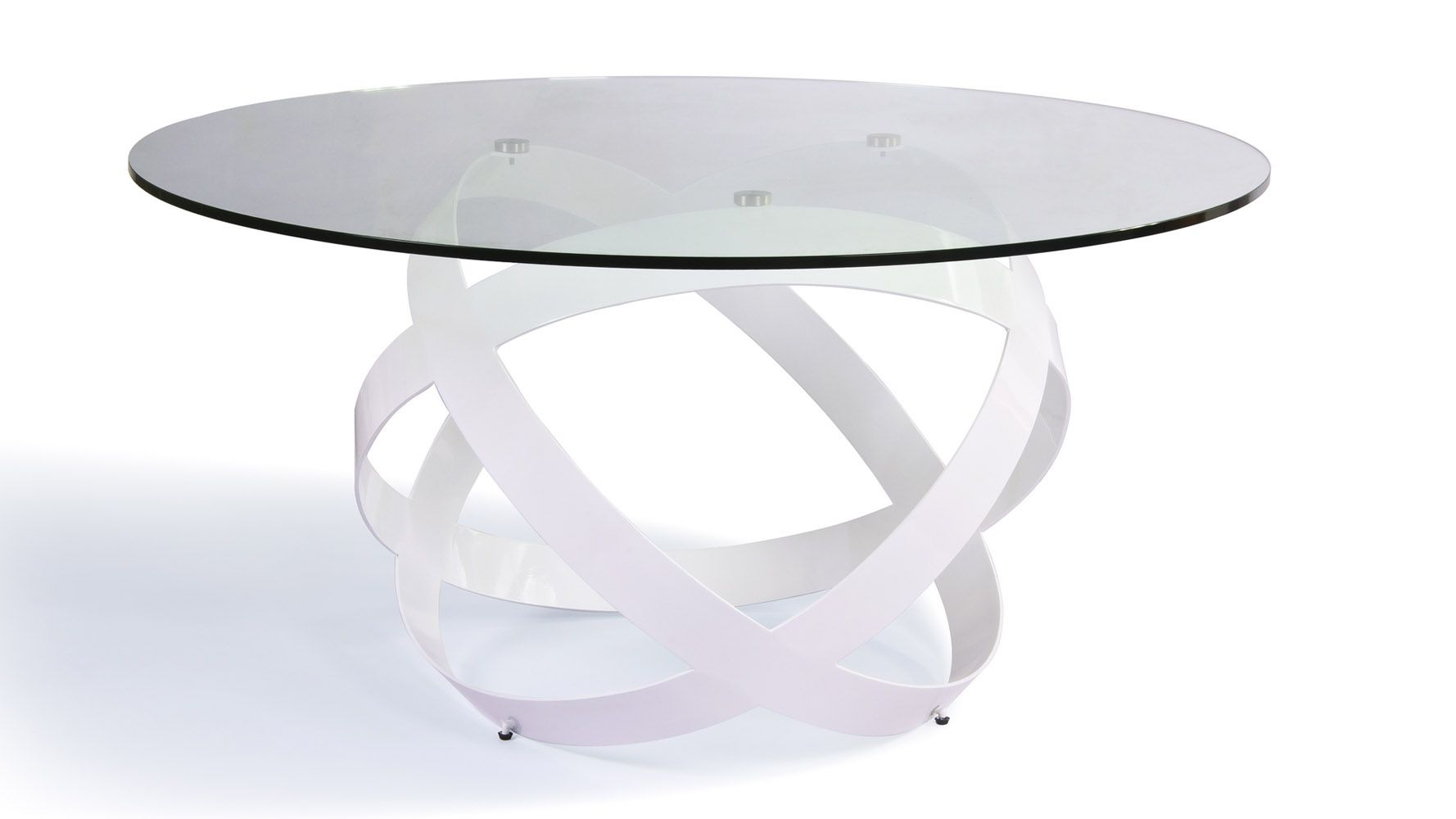 Mambo Clear Glass Top Dining Table | Zuri Furniture