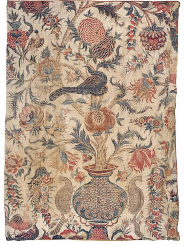 Large fragmentary chintz palampore india for the dutch market ca tecidos also rh br pinterest
