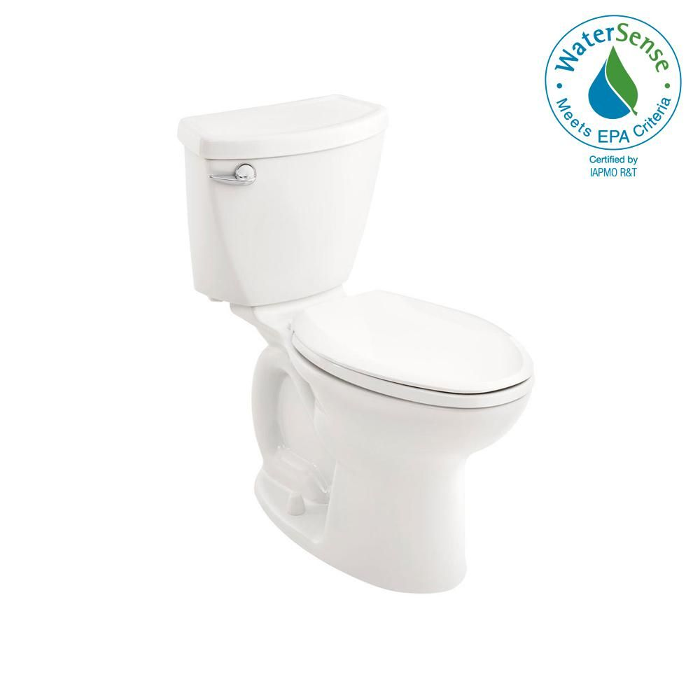 American Standard Cadet 3 Tall Height Complete 10 In Rough In 2piece 1 28 Gpf Single Flush Elongated Toilet In White Wit Tall Toilets American Standard Toilet