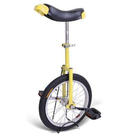 "16/"" Adjustable Height Leakproof Butyl Mountain Tire Unicycle Wheel Cycling Blue"