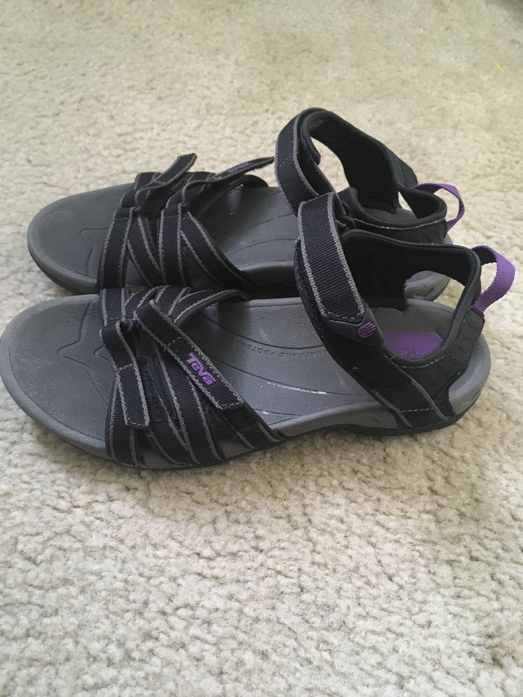 a1cb7ec65c7f Teva Tirra tone Black Purple Athletic Sport Sandals 4266 Womens Size 8  SUPERB  fashion