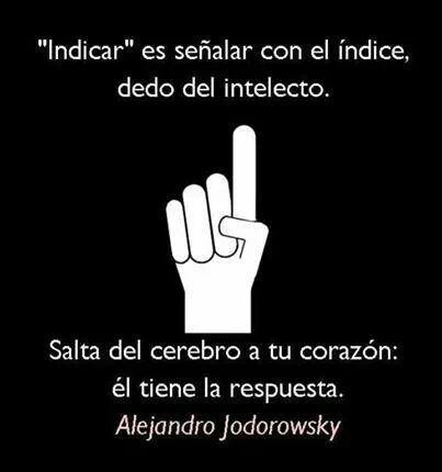 Indicar. #AlejandroJodorowsky