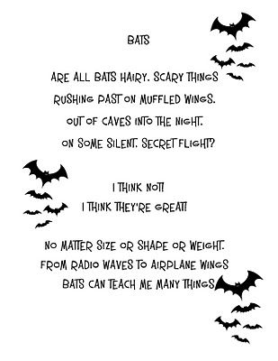 14cf79f76580 Bat poem | Poetry | Poems, Halloween crafts for kids, Halloween kids