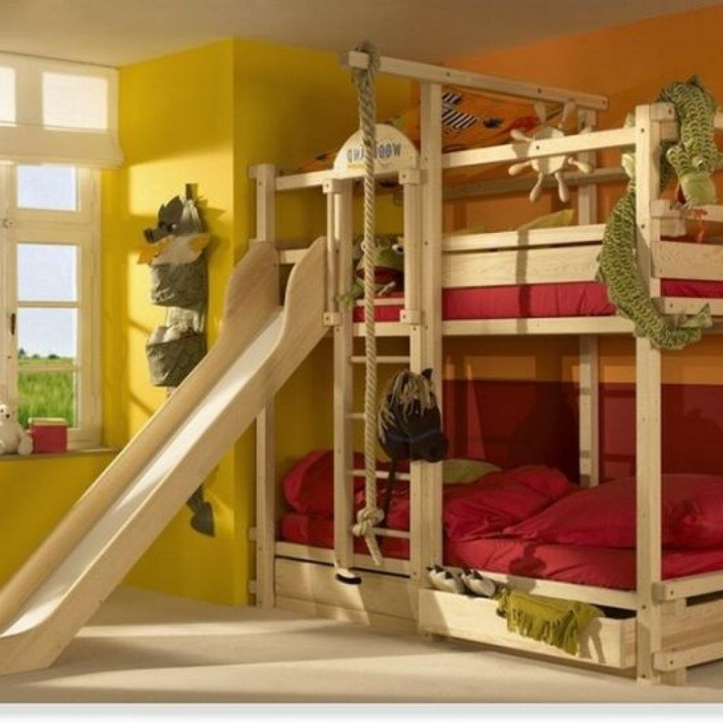 Pirate Theme Wooden Double Bunk Beds With Slide And Storage Bunk Bed With Slide Cool Bunk Beds Bunk Beds With Stairs