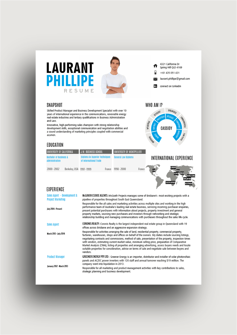 CV For The Global Village Modern Infographic Styled Resume Featuring