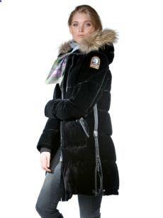 parajumpers long bear velvet coat