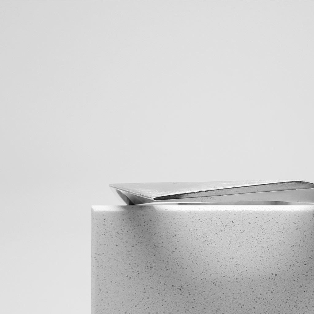 Solid sterling silver bracelet the intersection of planes and mix