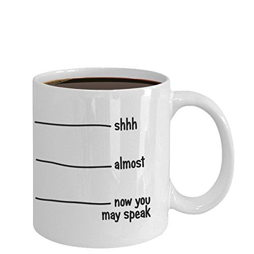 Coffee Mug - Now You May Speak - 11 oz Unique Christmas Present Idea for Friend, Mom, Dad, Husband, Wife, Boyfriend, Girlfriend - Best Office Cup Birthday Funny Gift for Coworker, Him, Her, Men, Women