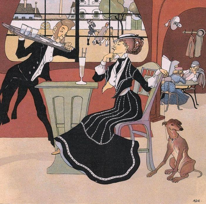 z- Cafe- 'Meggendorfers Humoristischen Blätter', c 1900