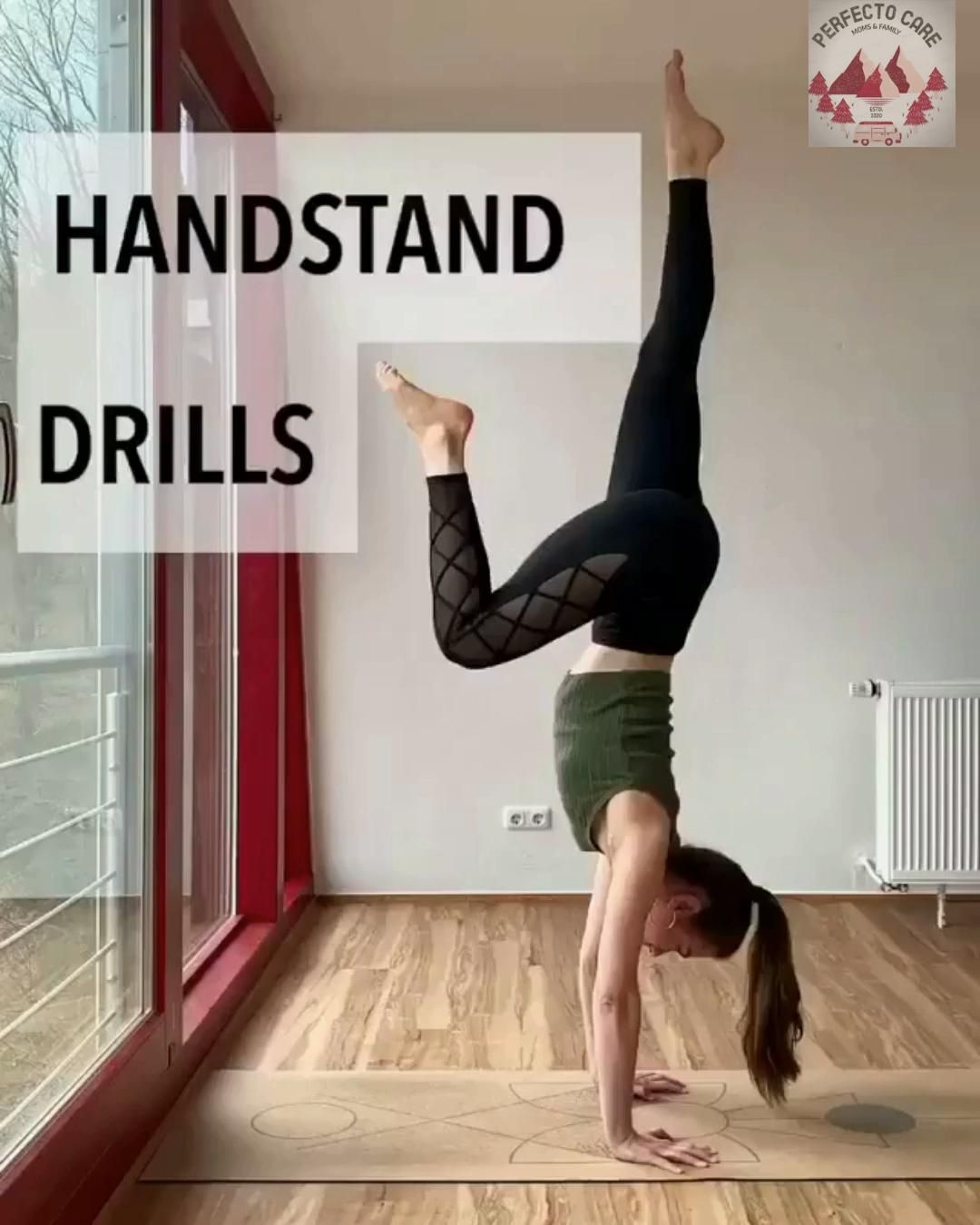 LEARN HOW TO DO 🤸🏻♀HANDSTAND DRILLS🤸🏻♀ YOGA #1