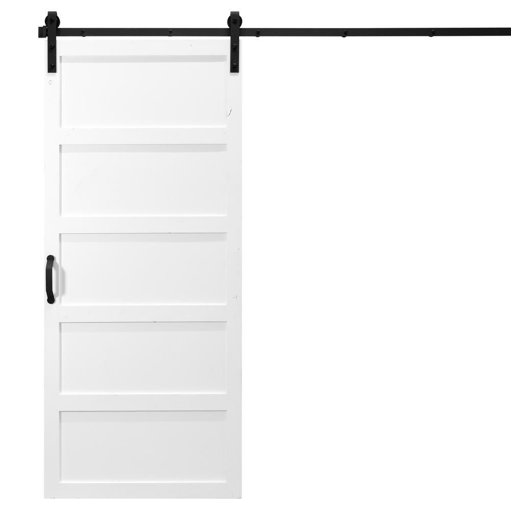 Dogberry Collections 36 In X 84 In 5 Panel White Alder Wood