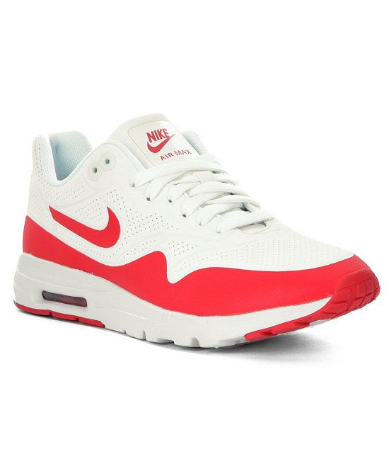 8eeb7730f504 Nike Air Max 1 Ultra Moire Sneaker leather mesh white red