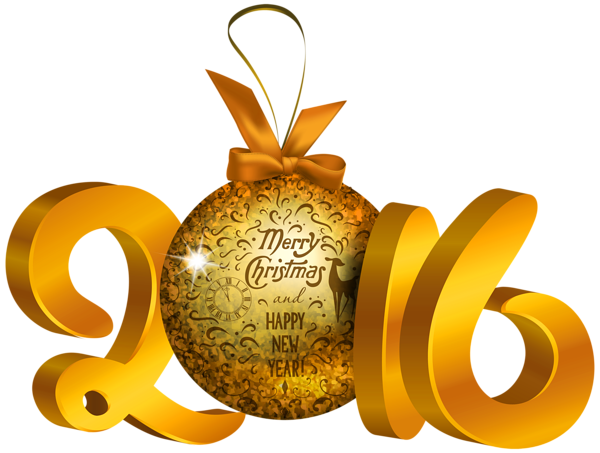 Yellow 2016 Decoration PNG Clipart Image | Ano Novo ...