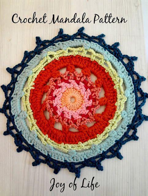 Crochet Patrón mandala | Decoración con crochet | Pinterest ...