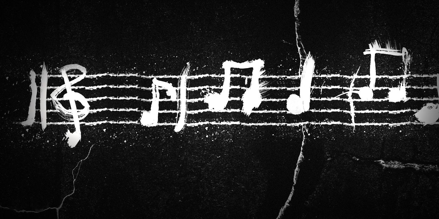 Amazing Music Notes Wallpaper Art
