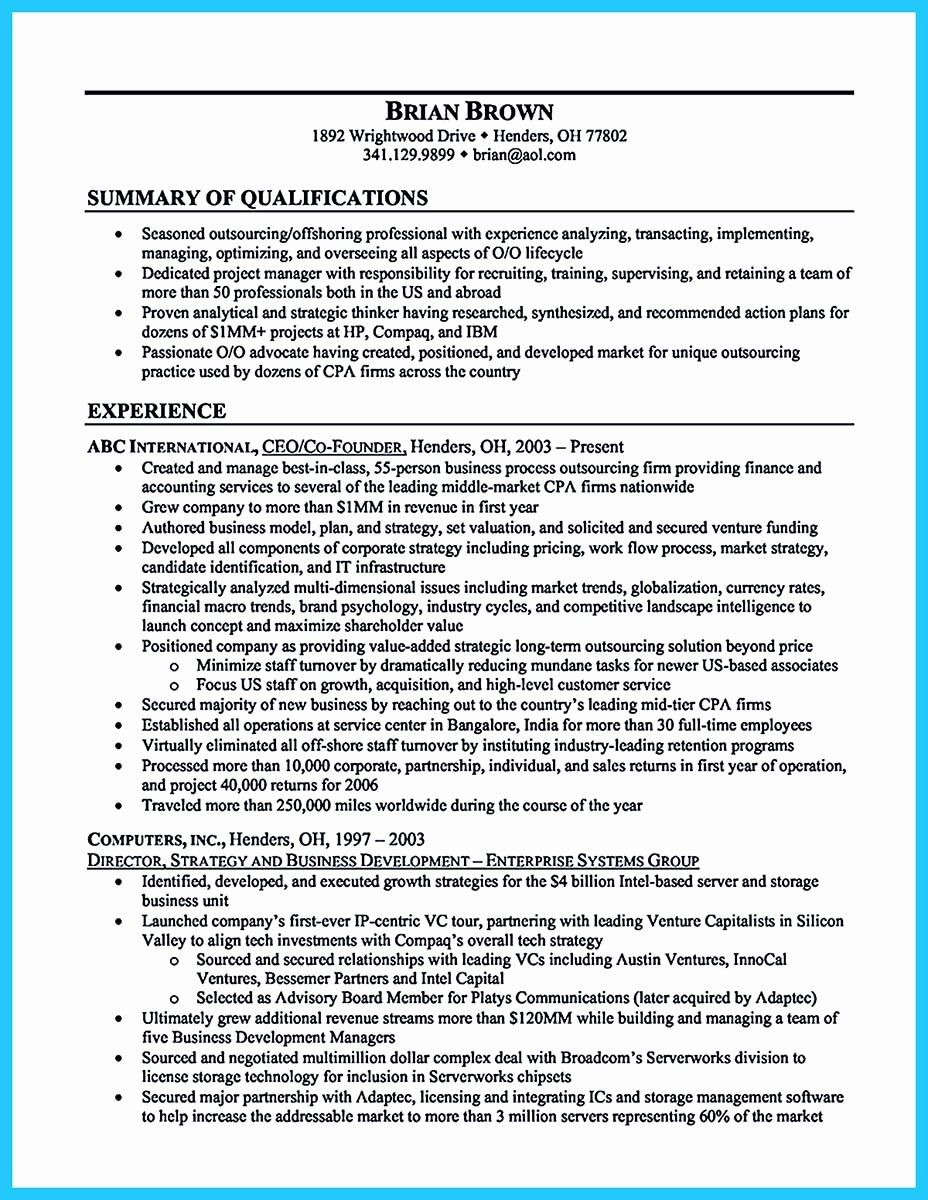 Small Business Owner Resume Best Of Outstanding Keys To Make Most Attractive Business Owner Res Resume Summary Examples Resume Summary Resume Summary Statement