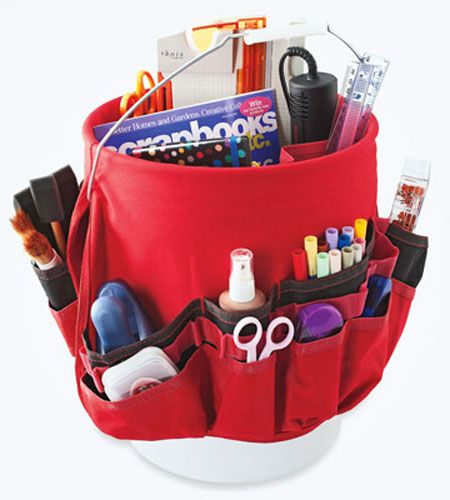 Craft Storage Ideas A Bucket Tool Organizer Finds New Use As A