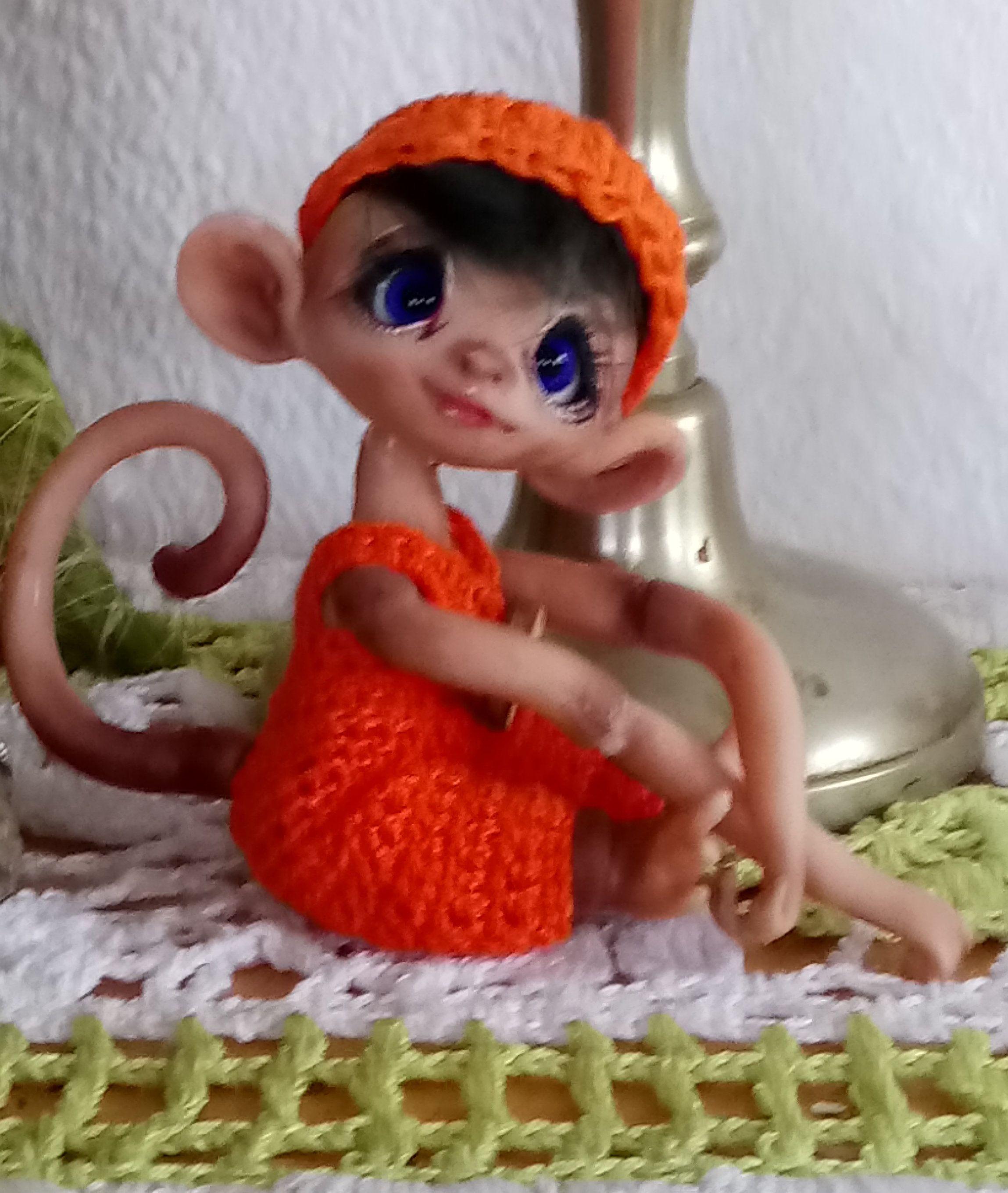 Ooak Bjd Art Doll Fairy Elv Monkey Coco Affen Etsy Und Kinder