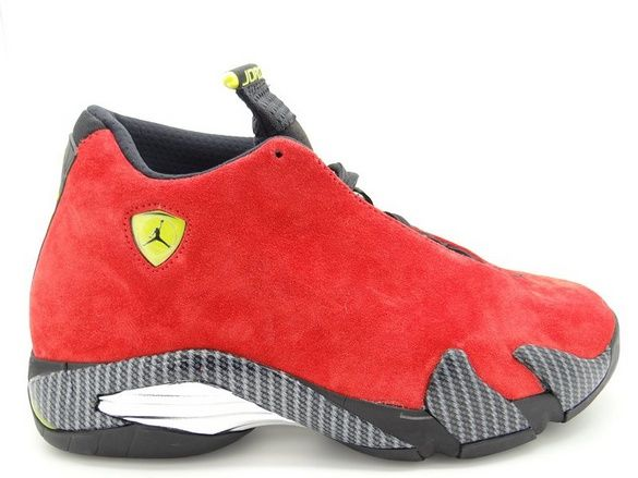 "Air Jordan 14 Retro ""Ferrari"" Men's Shoes Challenge Red/Vibrant Yellow/ Anthracite/Black 654459-670 – For Sale"