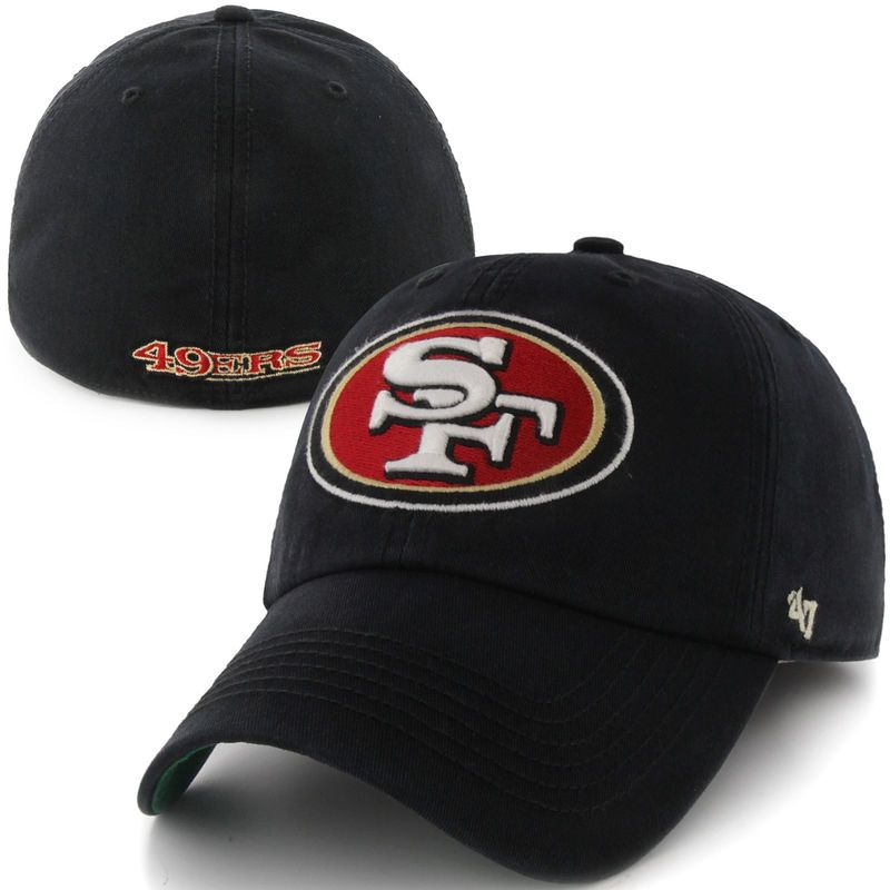 0c6bae35 San Francisco 49ers '47 Brand Franchise Fitted Hat - Black ...