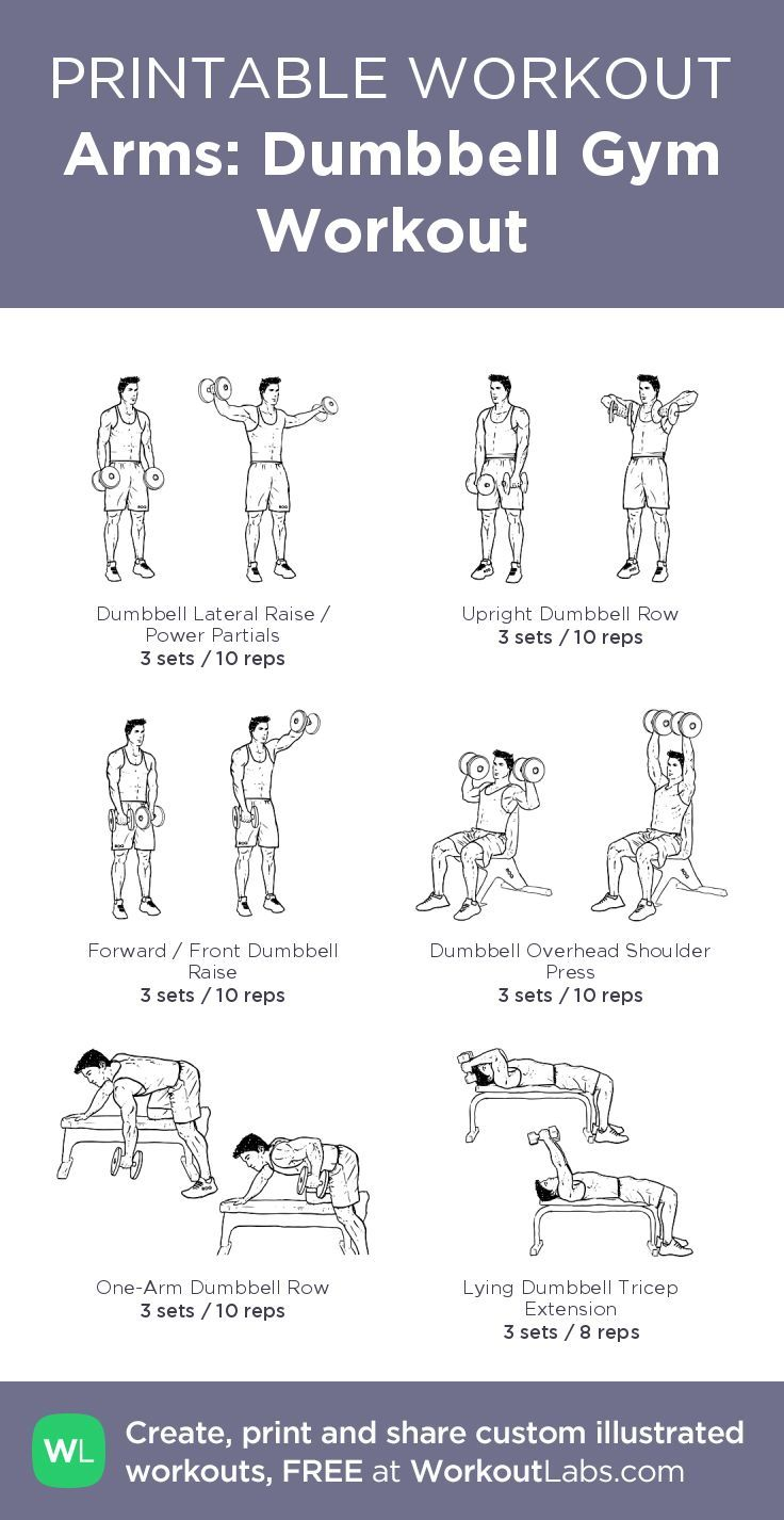 Arms: Dumbbell Gym Workout– my custom exercise plan created at WorkoutLabs.com • Click throug... #trapsworkout