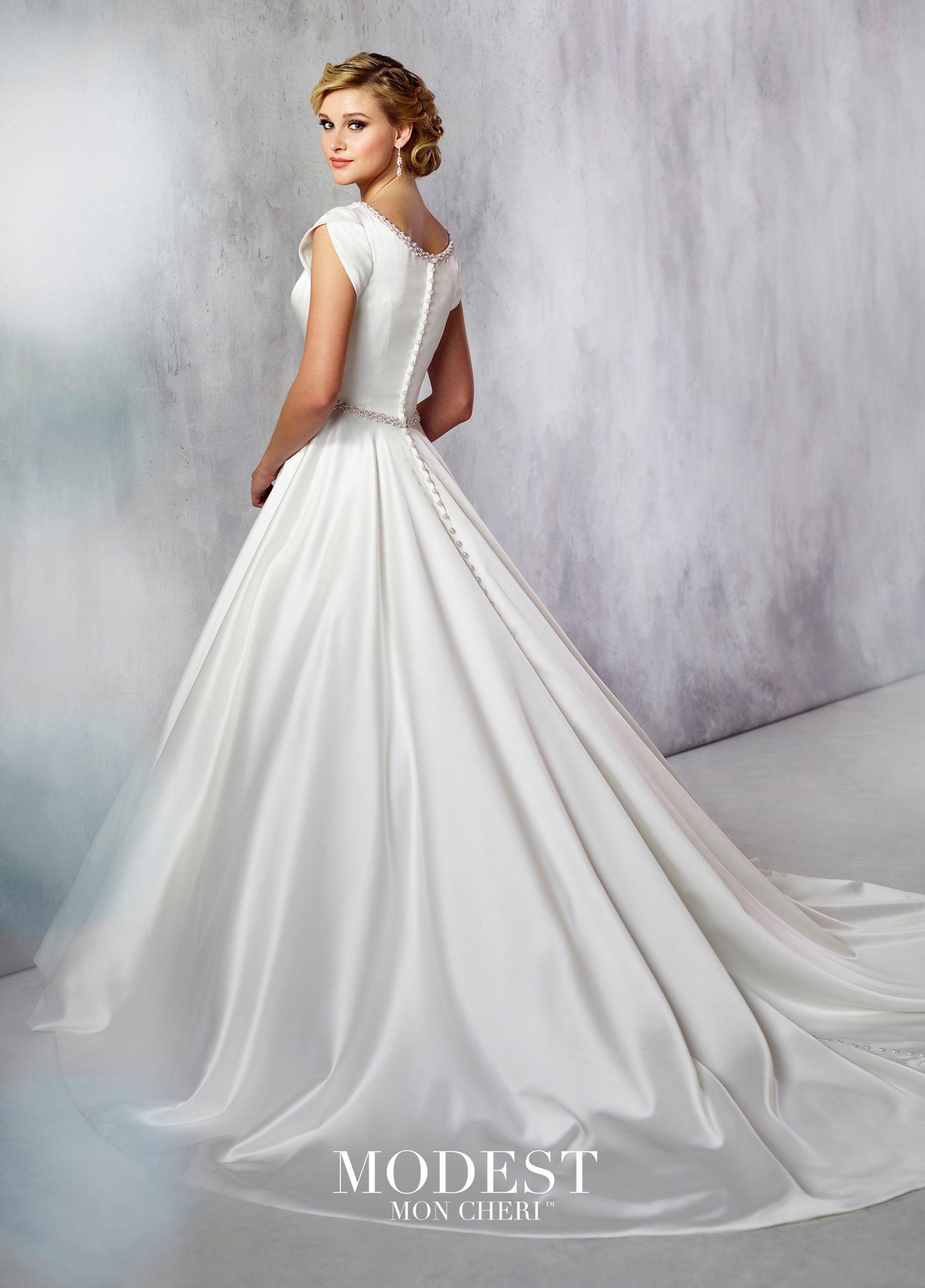 Modest Wedding Dresses Modest By Mon Cheri Ball Gown Wedding Dress Wedding Dresses Satin Wedding Dresses Taffeta