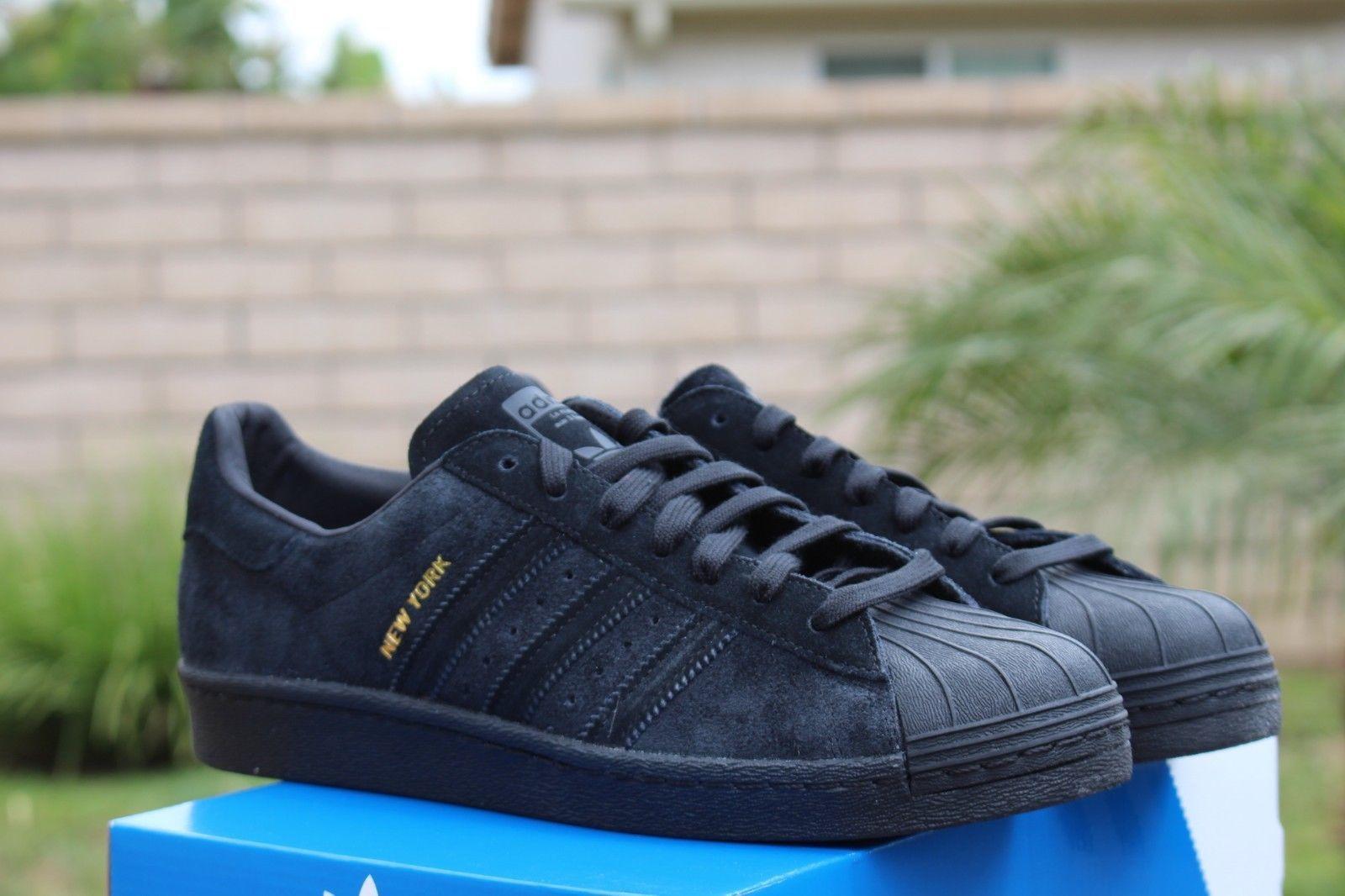 adidas superstar core black blue