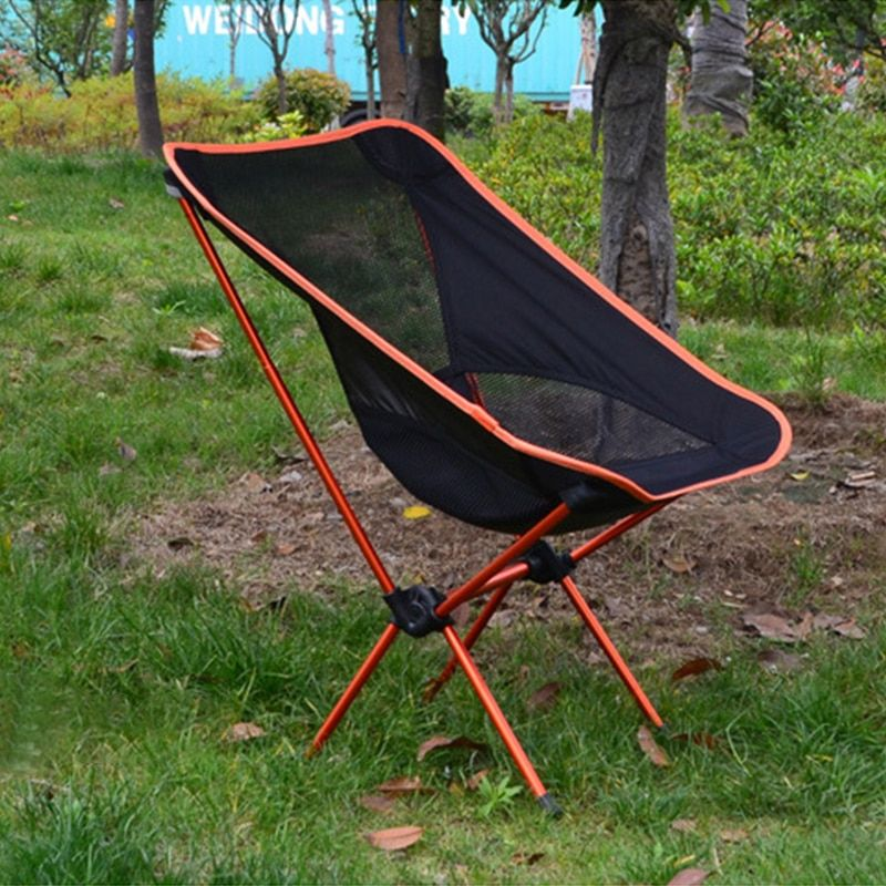 Portable Collapsible Moon Chair Fishing Camping Bbq Stool Folding Extended Hiking Seat Garden Ultralight Office Home Furniture Outdoor Furniture Beach Chairs