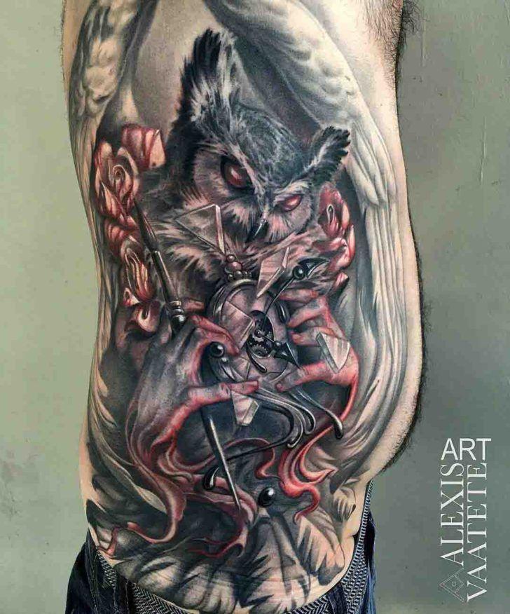 Image Result For Evil Owl Tattoo Skeleton Animal Tattoo Tattoos Owl Tattoo