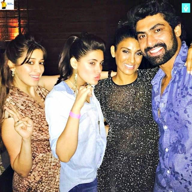 Victory Venkatesh: Rana Daggubati enjoying with Bipasha, Nargis, Laxmi Rai