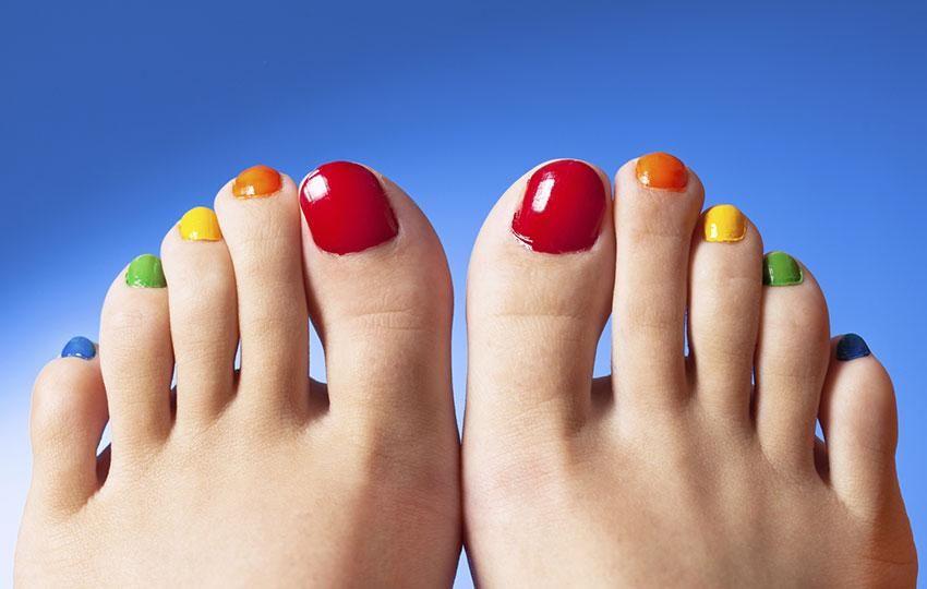 Gallery for rainbow toenails painted claws raarr pinterest rainbow nail polish feet art stock photo my feet solutioingenieria Choice Image