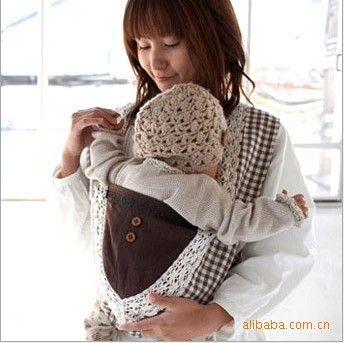 New Lattic Japanese 100 Cotton Baby Front Back Carrier Sling 3 30